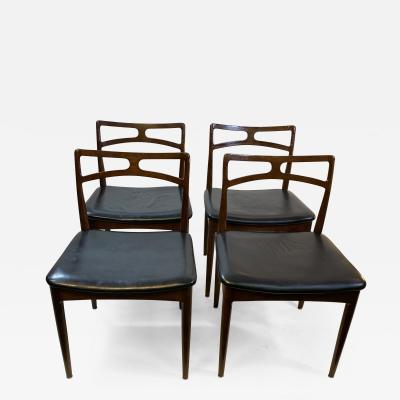 Johannes Andersen SUITE OF FOUR MODEL 94 ROSEWOOD DINING CHAIRS BY JOHANNES ANDERSEN