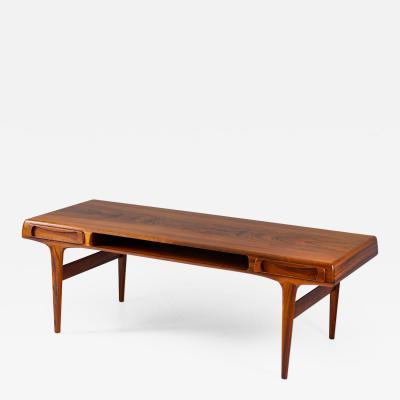 Johannes Andersen Scandinavian Coffee Table Rosewood by Johannes Andersen