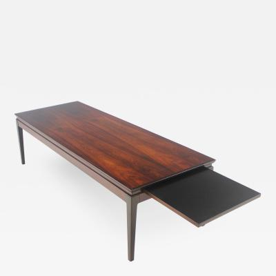 Johannes Andersen Scandinavian Modern Rosewood Coffee Table with Extension by Johannes Andersen