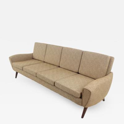 Johannes Andersen Sculptured Scandinavian Modern Sofa Designed by Johannes Andersen