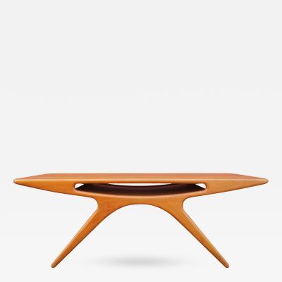 Johannes Andersen Teak Smile Coffee Table by Johannes Andersen for CFC Silkeborg