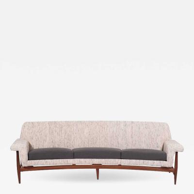 Johannes Andersen Three Seat Sofa by Johannes Andersen for Trensum 1958