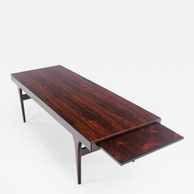 Johannes Andersen Versatile Scandinavian Modern Rosewood Coffee Table by Johannes Andersen