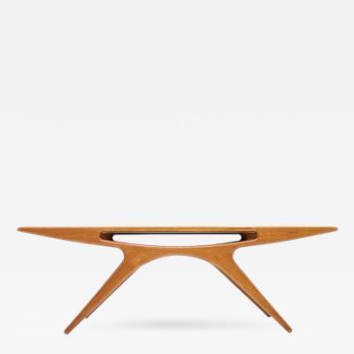 Johannes Anderson Danish Teak Wood Coffee Table Smile by Johannes Andersen CFC Silkeborg 1957