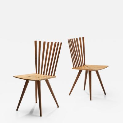 Johannes Foersom Peter Hiort Lorentzen Pair of Mikado chairs by Johannes Foersom and Peter Hiort Lorenzen Dk 90s