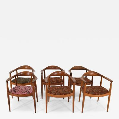 Johannes Hansen Set of Six Hans Wegner The Round Chairs by Johannes Hansen