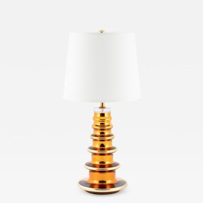 Johansfors Glasbruk Gold mercury glass TOTEM table lamp by Johansfors Glasbruk circa 1960s