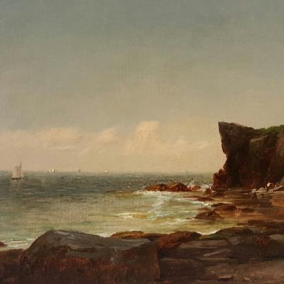 John Adams Parker Cliffs Along the Shore n d