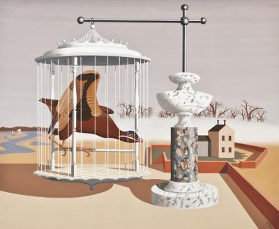 John Atherton Bird in Cage