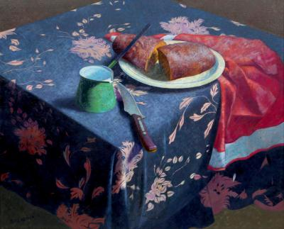 John Bazadona Still Life with Bread