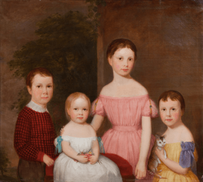 John Beale Bordley Portrait of the Burroughs Children of Waverly