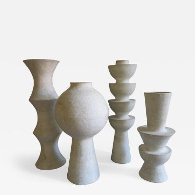 John Born Ensemble of Four Ceramic Vases by John Born