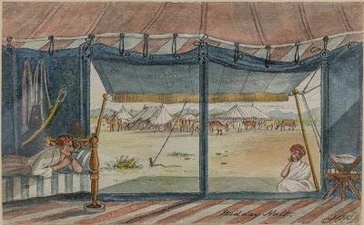 John Brownrigg Bellasis Campaign A Fine Early 19th Century Watercolor Depicting Travel in India