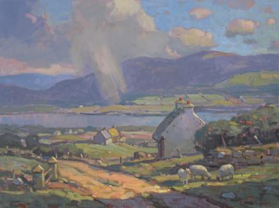 John C Traynor County Kerry Ireland large transitional contemporary landscape painting