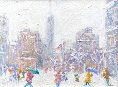 John Crimmins Wintry Day Madison Square