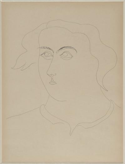 John D Graham Figures Female Head and Male Profile