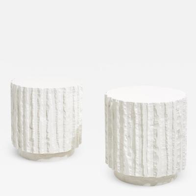John Dickinson Abstract Plaster Side Tables 1970