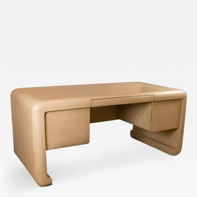 John Dickinson Crackle Lacquer Desk
