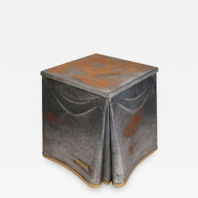 John Dickinson Heavily Patinated John Dickinson Galvanized Steel Occasional Table