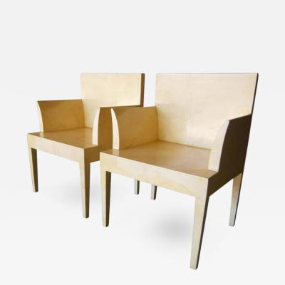 John Dickinson John Dickinson Parchment Chairs