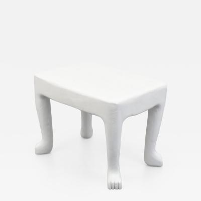 John Dickinson John Dickinson Square African Plaster End Table USA c 1976 1980