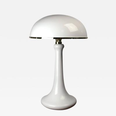 John Dickinson John Dickinson White Lacquered Table Lamp with Dome Shade