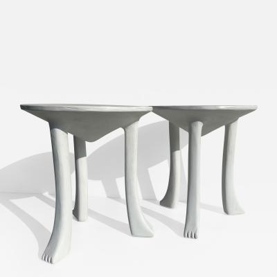 John Dickinson Pair Plaster African Tables