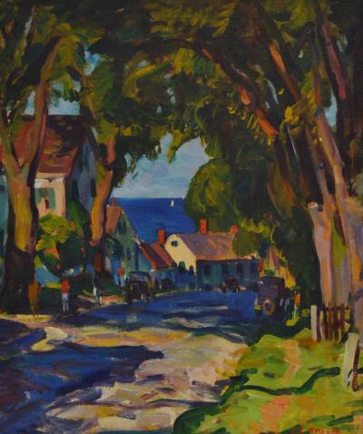 John Ellsworth Weis Tree Lined Street