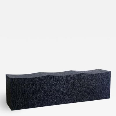 John Eric Byers Maple Block Bench for Three by John Eric Byers