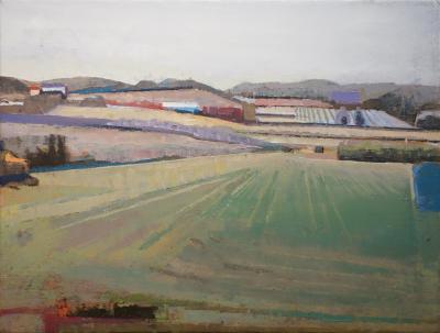 John Evans Field Hillside in Burgundy