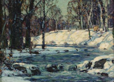 John Fabian Carlson Woodland Stream