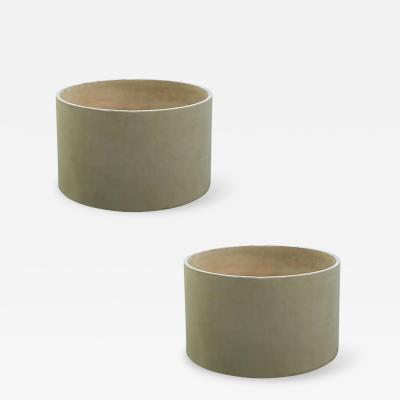 John Follis Pair Large Architectural Pottery Planters by John Follis