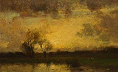 John Francis Murphy Landscape with Trees and Pond