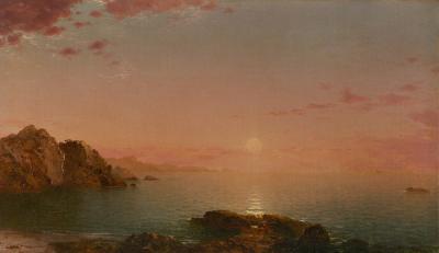 John Frederick Kensett Pro Patria Sunset on the Coast 1864