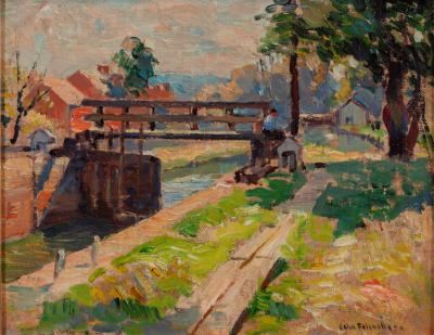 John Fulton Folinsbee Along the Canal New Hope