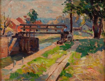 John Fulton Folinsbee Along the Canal New Hope