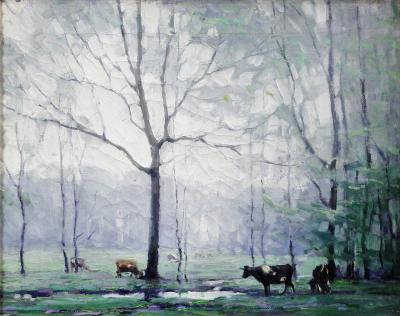 John Fulton Folinsbee Cows