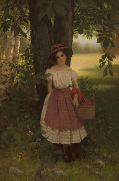 John George Brown The Berry Picker