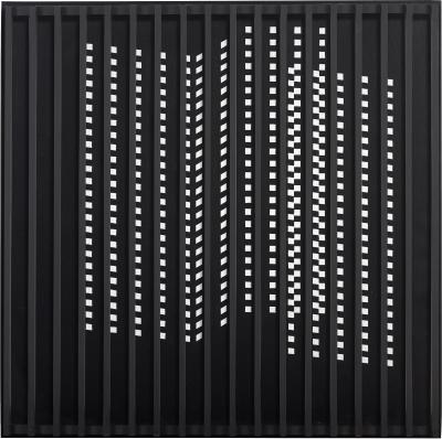 John Goodyear Untitled Black and White with Grid