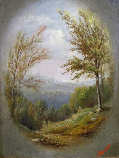 John Heyl Raser Detailed Scenic Vignette