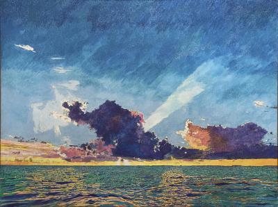 John Hogan Sunset Sea Clouds Key Largo