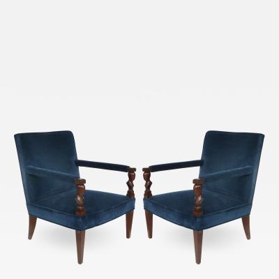 John Hutton John Hutton Donghia Rushmore Newly Upholstered Armchairs Pair
