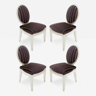 John Hutton Set of 4 Dining Game Chairs by John Hutton for Donghia