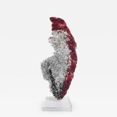 John Joseph Denis RED GLACIER Glass and Acrylic Sculpture