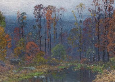 John Joseph Enneking Hilltop Pond at Dusk