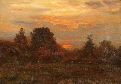 John Joseph Enneking Landscape with Sunset