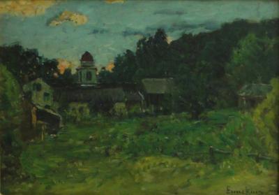 John Joseph Enneking Sunset Stowe Vermont