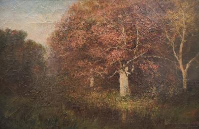 John Joseph Enneking painting on canvas