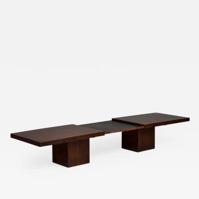 John Keal John Keal Designed Walnut Extendable Coffee Table USA 1960s