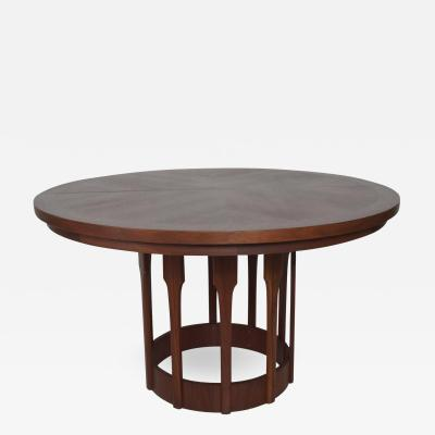 John Keal Mid Century Modern John Keal for Brown Saltman Sculptural Walnut Dining Table